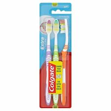 Colgate Extra Clean Medium Toothbrush 3 Units Unisex