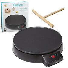 New 12 In Electric Crepe Pancake Maker Nonstick Griddle Machine Cooker Hotplate