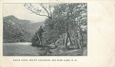 Pvt Mailing Card; Eagle Cliff, Mount Lafayette and Echo Lake, NH Carroll County