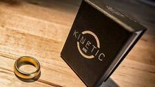 Kinetic PK Ring (Gold) Curved size 11 by Jim Trainer -Magic Tricks