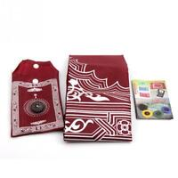 Portable New Pockets Muslim Prayer Rug Mat Blanket with Compass in Pouch