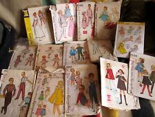 LOT 14 - GIRLS BOYS DRESS - VTG SEWING PATTERNS -CUT COMPLETE 50s 60s
