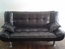 Black Leather Sleeper Sofa Couch Bed Local Pickup Only
