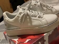Womens White XTI Trainers Sneakers Size 3