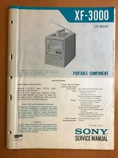 ORIGINAL SERVICE MANUAL & SCHEMATIC SONY XF-3000 PORTABLE COMPONENT D594