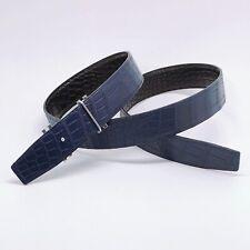 Handmade 32mm 2 Sided Genuine Crocodile Skin belt Size 95 Free Shipping