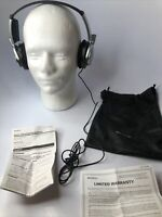 VINTAGE SONY NOISE CANCELING HEADPHONES MDR-NC6 With Case And Manual Mint