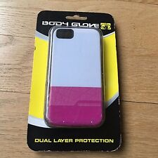 Tmobile Body Glove White Pink Dual Layer Hybrid Case & LCD Protector iPhone 5 5s