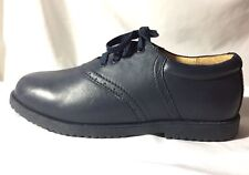 Willits Leather Uniform Shoes Solid Blue Saddle Lace Up Honor Roll Ii Size 5M