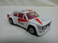 Vintage 1982 Lesney Matchbox No 45 Fiat Abarth 131 Diecast White Toy Rally Car