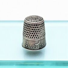 Salem Witch 1692 Commemorative Thimble by Whiting - Sterling Silver - RARE