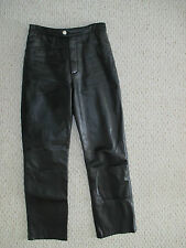 Wilsons Black Leather Motorcycle Pants Size 4