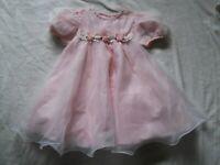 Bonnie Jean Dress Girls Size 4T Spring Short Sleeve Pink Gingham Sheer Wedding