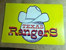 Vintage Texas Rangers Baseball Cardboard Sign