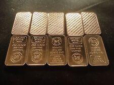 BAR COPPER 1 OUNCE BAR-LOT OF 20-  GOLDEN STATE MINT .999 COPPER BULLION-