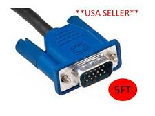 15 Pin SVGA VGA Monitor Male To Male M/M Cable Cord for PC TV **NEW**