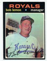 1971 Topps #91 BOB LEMON Kansas City Royals Manager HOF BASEBALL CARD vg-ex