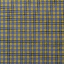 "DESIGNER 100% SILK CHECK YELLOW BABY BLUE CHECKER WOVEN FABRIC BY YARD 54""W"