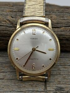 Vintage 1960's Timex France Electric Backset Crown Men's Wrist Watch Running