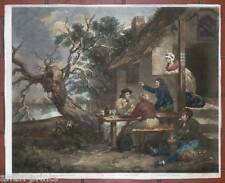 Sailors Conversation - Mezzotinto Morland-Ward 1802 Gasthaus-Seeleute