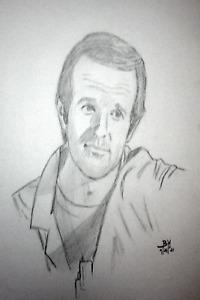 MASH ART/BJ HUNNICUTT MIKE FARRELL ORIGINAL PENCIL DRAWINGS/ PORTRAIT11X14