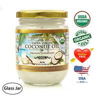 Organic Coconut Oil Extra Virgin Unrefined Cold Pressed 6.76 fl oz (200 ml)