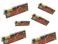 RAW Black Classic 1 1/4 Rolling Papers - 8 PACKS - Ultra Thinnest Vegan 1.25