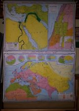 VINTAGE Pull Down School Map -  Ancient Orient, Palestine, Ancient World