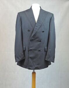Ede And Ravenscroft Wool Textured Double Breasted Suit Jacket 42R CR013 GG 09