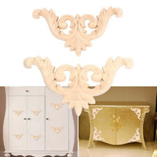 Wood Carved Corner Applique Unpainted Frame Decal For Bed Table Supplies