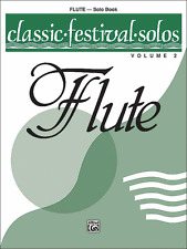 CLASSIC FESTIVAL SOLOS FOR FLUTE--MUSIC BOOK-VOLUME 2-BRAND NEW ON SALE SONGBOOK