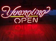 """Yuengling Open Beer Neon Lamp Sign 17""""x14"""" Bar Light Glass Artwork"""