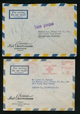 SWEDEN 1953-57 METER FRANKINGS to USA...AXEL CHRISTIERNSSON ENVELOPES