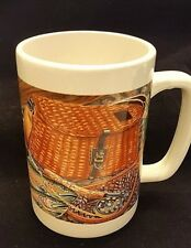 Otagiri Trout Fishing Coffee Mug Large 15 oz Lures Vest Basket Pole Net Ceramic