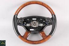 07-13 Mercedes W221 CL550 S550 Steering Wheel Black Wood w/ Paddle Shifters OEM