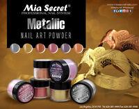 6pcs Mia Secret Professional Nail System Metallic Collection Silver Gold NEW
