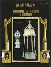 Macrame Award Winning Designs Vintage Patterns Plant Hangers Baby Swing + USED
