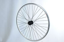 700c (622 x 19) DISC HUB TREKKING BIKE FRONT WHEEL XC WHITE DOUBLE WALL RIM
