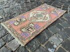 Bohemian rug, Vintage rug, Small, Handmade, Decor rug, Bedroom | 1,6 x 3,1 ft