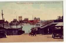 THE FERRY DOCK AT WINDSOR ONT CANADA Detroit in the distance 1916 vintage autos