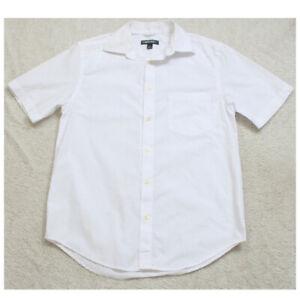 Small Cherokee White Cotton Polyester Short Sleeve Mans Pocket Dress Shirt BB9