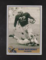 1992 Pacific Washington Huskies #32 Hugh McElhenny card, San Francisco 49ers HOF