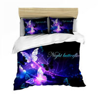 Linen Single/Double/Queen/King Size Bed Doona/Quilt/Duvet Cover Set Butterfly
