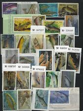 US Stamps - Wisconsin Trout Stamp Collection - 27 Different - Mint & Used