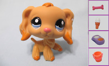 Littlest Pet Shop 1716 Tan Cocker Spaniel Dog+1 FREE Accessory 100% Authentic