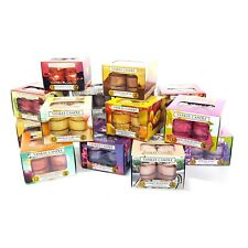 Official Yankee 6 x Boxes Assorted Fragrances Scented Tealights Total 72 Candles