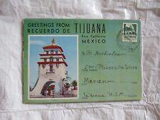 Recuerdo De Tijuana Baja California Mexico Postcard Souvenir Folder Fronton Alai