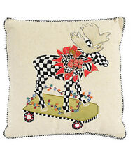 Mackenzie Childs MOOSE ON PARADE w/ Courtly Check Decorator PILLOW New $95 m20-j