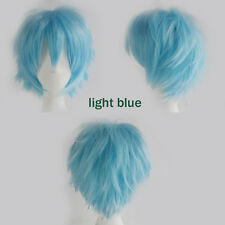 Unisex Anime Short Wig Straight Hair Cosplay Costume Party Heat Resistant Wigs