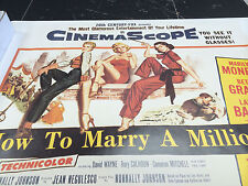 How to Marry a Millionaire Monroe Grable Bacall vintage wall poster PBX3153